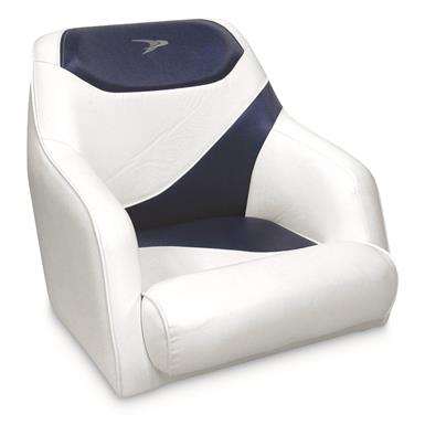 Wise Premium Deluxe Bucket Boat Seat, White/Midnight