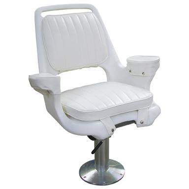 Wise® Offshore Extra Wide Captain's Chair with 15 inch Fixed Pedestal / Mounting Plate / Seat Swivel