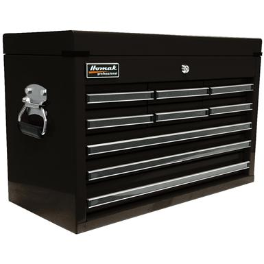 "Homak Professional 27"" 9-Drawer Upper Tool Chest, Black"
