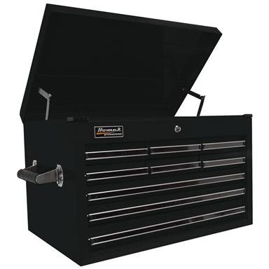 "Homak® Professional 27"" 9-Drawer Extended Upper Tool Chest, Black"