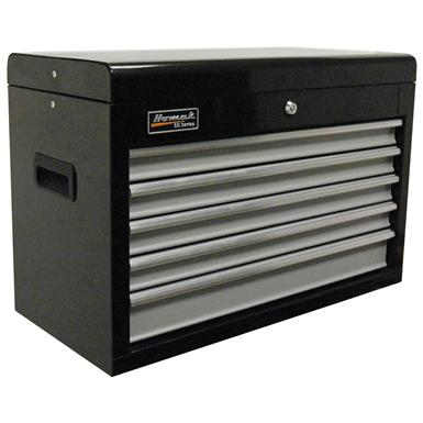"Homak SE Series 27"" 5-Drawer Upper Tool Chest, Black / Gray"