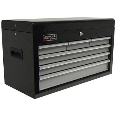 "Homak SE Series 27"" 6-Drawer Upper Tool Chest, Black / Gray"