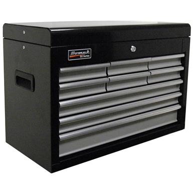 "Homak SE Series 27"" 9-Drawer Upper Tool Chest, Black / Gray"