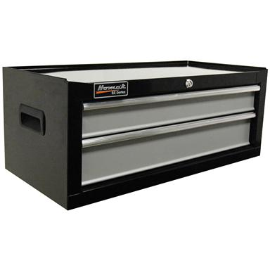 "Homak SE Series 27"" 2-Drawer Middle Tool Chest, Black / Gray"