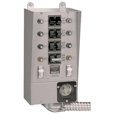 Reliance Controls® 8-Circuit 30 Amp Indoor Transfer Switch