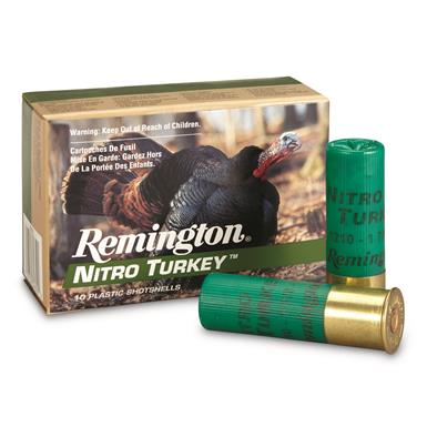 "Remington, Nitro Turkey, 12 Gauge, Magnum Copper-plated Buffered Turkey Load, 3"", 10 Rounds"