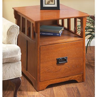 Merveilleux Mission Style End Table / File Cabinet
