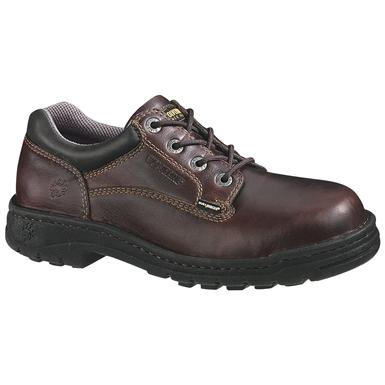 Wolverine Men's Exert DuraShocks EH Opanka Oxford Work Shoes, Briar