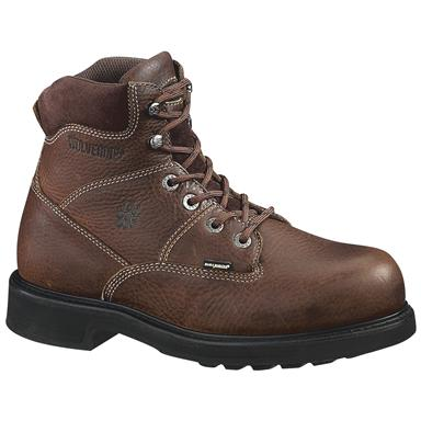 "Wolverine Men's 6"" Tremor DuraShocks Boots, Brown"