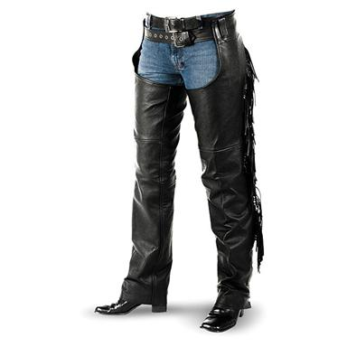 Women's Interstate Leather Fringe Chaps