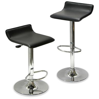 Set of 2 Winsome Adjustable Airlift Bar Stool