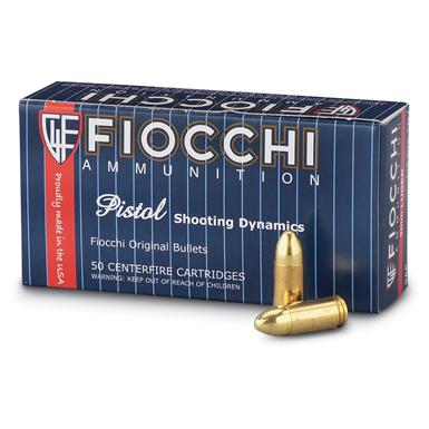 Fiocchi, 9mm Luger, FMJ, 124 Grain, 1,000 Rounds