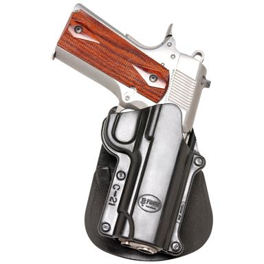 Fobus All-Model 1911-Style Holster with Double Mag Pouch, Non-rail