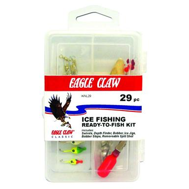 29-Pc. Eagle Claw Ice Fishing Kit