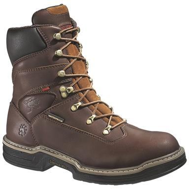 "8"" Wolverine® Buccaneer Contour Welt™ Steel Toe EH Waterproof Boots, Dark Brown"