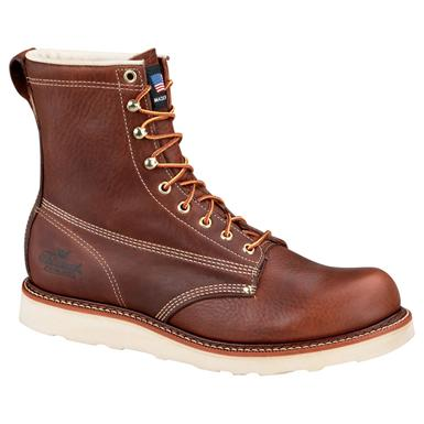 "Men's Thorogood® 8"" Steel Toe Wedge Boots"