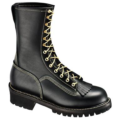 "Men's Thorogood® 10"" Wildland Fire Combat Boots with Removable Kiltie"
