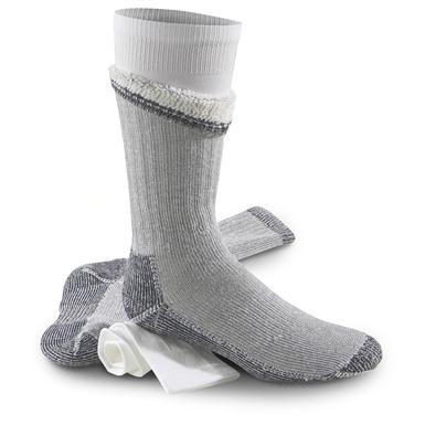 Guide Gear Thermal Sock and Liner System, Gray / White
