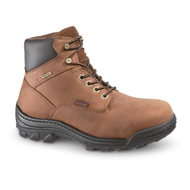 "Men's Wolverine® Waterproof 6"" Durbin Work Boots, Brown"