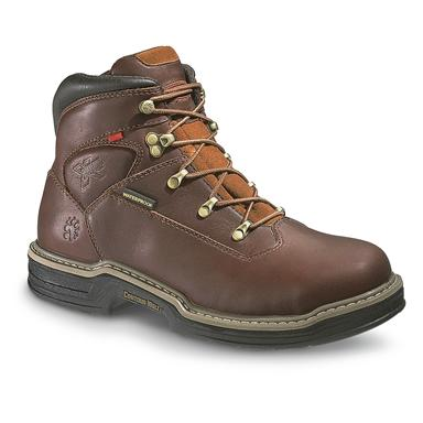 "Men's Wolverine® 6"" Waterproof MultiShox™ Contour Welt™ Work Boots, Dark Brown"