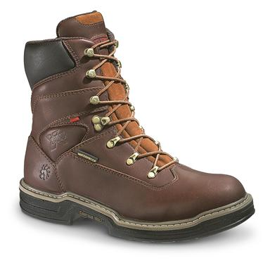 "Men's Wolverine® 8"" Waterproof MultiShox™ Contour Welt™ Work Boots, Dark Brown"