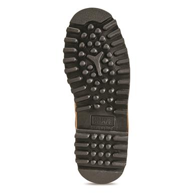 Oil and slip-resistant bobbed outsole, Brown