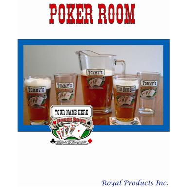 Royal Products® Personalized Poker Room Pub Set