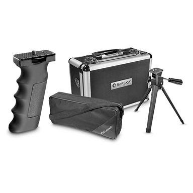 Hand-grip, tripod and 2 cases included