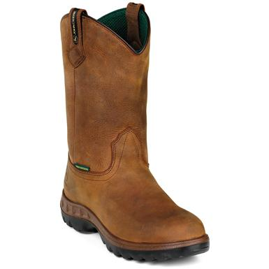 "Men's John Deere 11"" Steel Toe Wellington Boots, Tan"