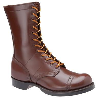 "Men's Corcoran® 10"" Historic Leather Military Jump Boots, Brown"