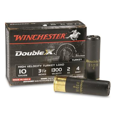 "Winchester Double X High-velocity Turkey Load, 10 Gauge, 3 1/2"", 2 oz., 10 Rounds"
