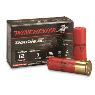 "Winchester, 12 Gauge, 3"", 2 oz., Supreme Double X Magnum Copper Plated Turkey Loads, 10 Rounds"