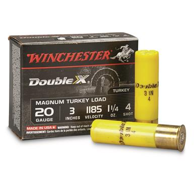 "Winchester, 20 Gauge, 3"", 1 1/4 oz., Supreme Double X Magnum Copper Plated Turkey Loads, 10 Rounds"