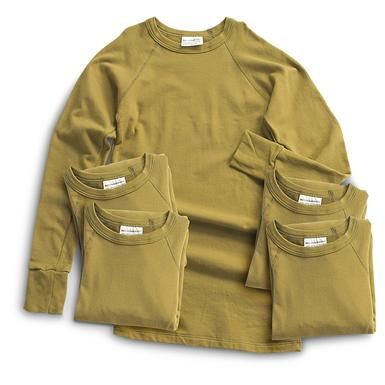 5-Pk. Used Dutch Military Surplus Shirts, Olive Drab
