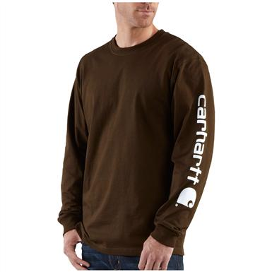 Carhartt® Long Sleeve T-Shirt, Dark Brown
