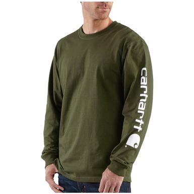 Carhartt® Long Sleeve T-Shirt, Army Green