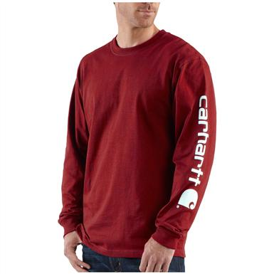 Carhartt® Long Sleeve T-Shirt, Dark Red