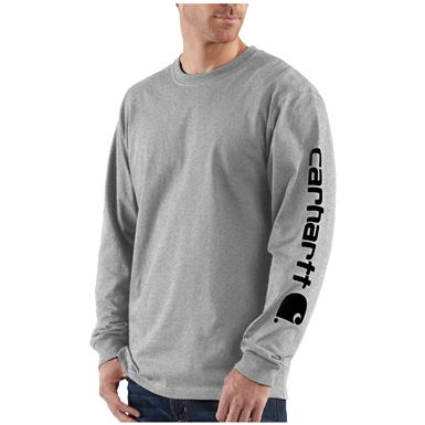 Carhartt® Long Sleeve T-Shirt, Heather Grey