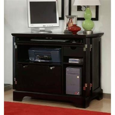 Home Styles™ Bedford Compact Office Cabinet, Ebony