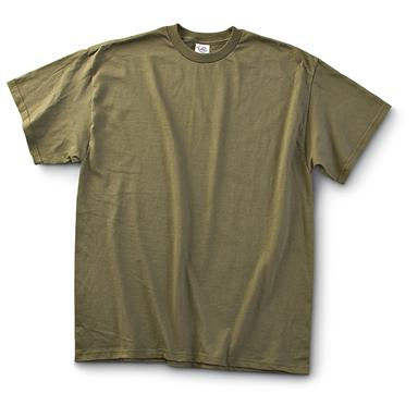 U.S. Military Surplus T-Shirts, 12 Pack, New