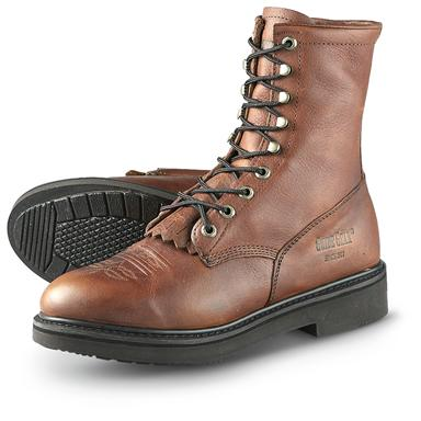 Men's Guide Gear® Kiltie Lacer Work Boots, Brown
