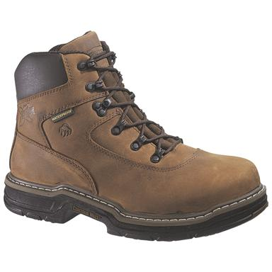 "Men's Wolverine® 6"" 400 grams of Thinsulate™ Ultra Insulation Marauder MultiShox® Waterproof Steel Toe Boots, Brown"