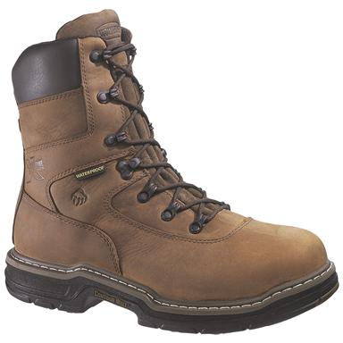 "Men's Wolverine® 8"" 400 grams of Thinsulate™ Ultra Insulation Marauder MultiShox® Waterproof Steel Toe Boots, Brown"