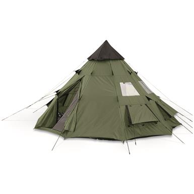Guide Gear Teepee Tent, 10 foot x 10 foot