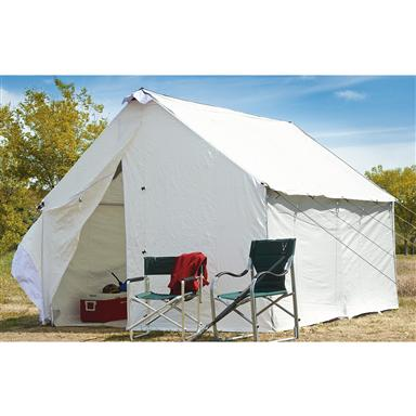 Guide Gear Canvas Wall Tent ...  sc 1 st  Sportsmanu0027s Guide & Guide Gear Canvas Wall Tent 10u0027 x 12u0027 - 175423 Outfitter ...