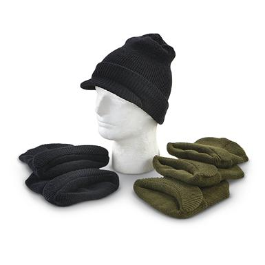 U.S. Military-style Jeep Watch Wool Caps, 3 Pack, New