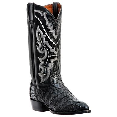 Men's Dan Post® 13 inch Genuine Caiman Boots, Black