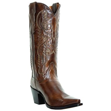 "Women's Dan Post® 12"" Rock Star Napalino Leather Boots, Antique Tan"