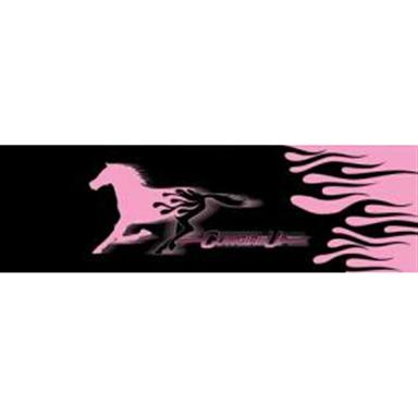 Cowgirl Up Flame Horse Window Graphics from Vantage Point Concepts, Pink