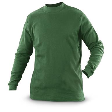 Guide Gear Men's Mock Turtleneck Long-Sleeve Shirt, Hunter Green
